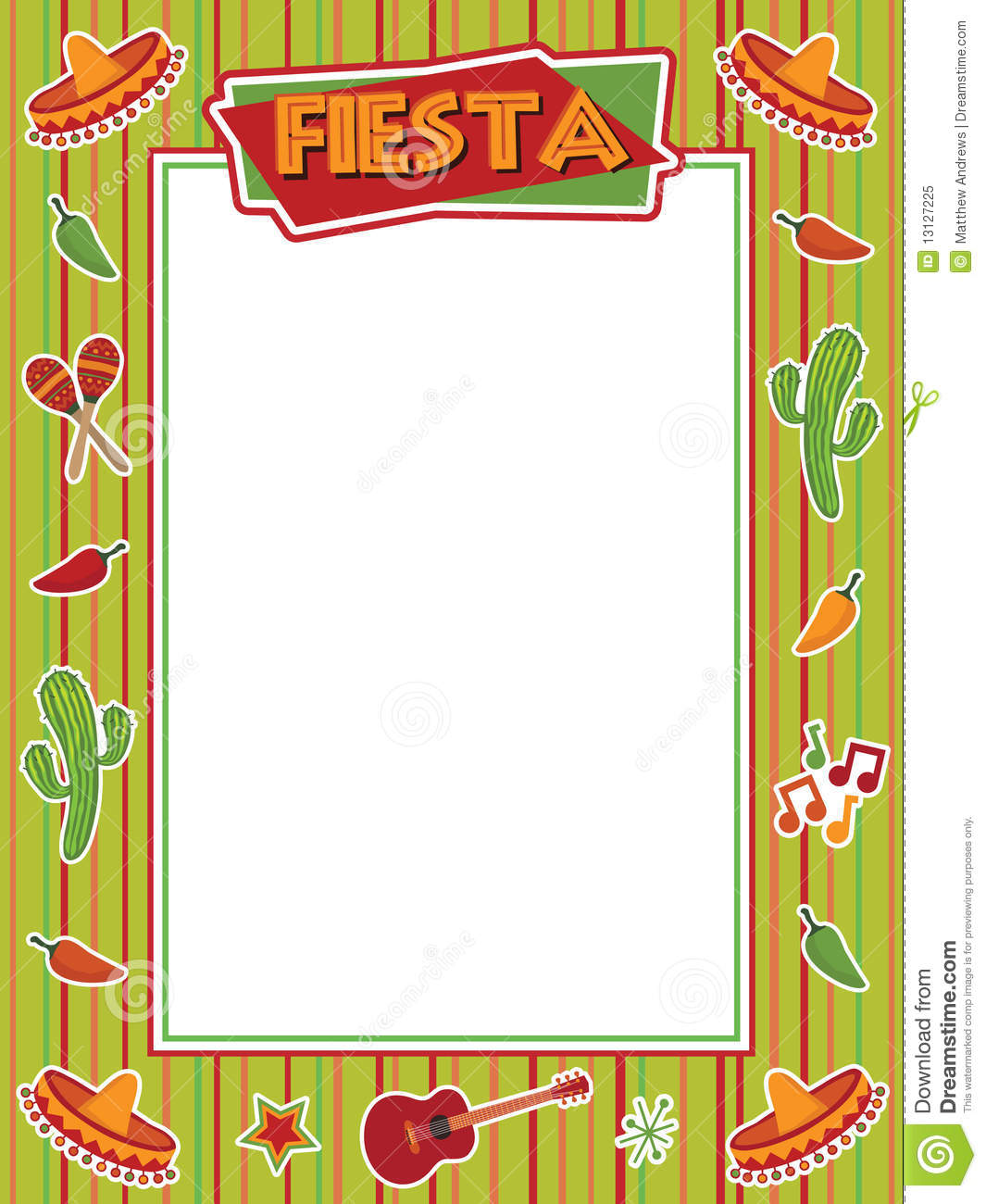 Mexican Food Border Clip Art Mexican Fiesta Frame With ...