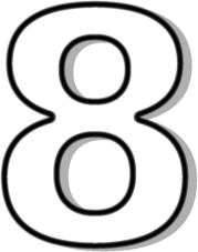 Number 8 Outline   Clipart Panda   Free Clipart Images