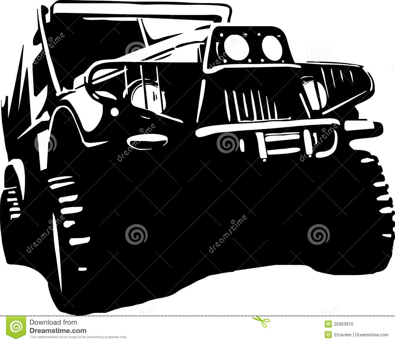 Off Road Clipart Suv Jeep Off Road Royalty Free