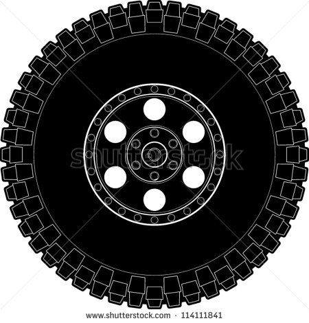 Off Road Truck Clipart Off Road Tire Symbol   Stock