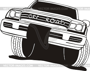 Off Road Vehicle   Vector Clipart