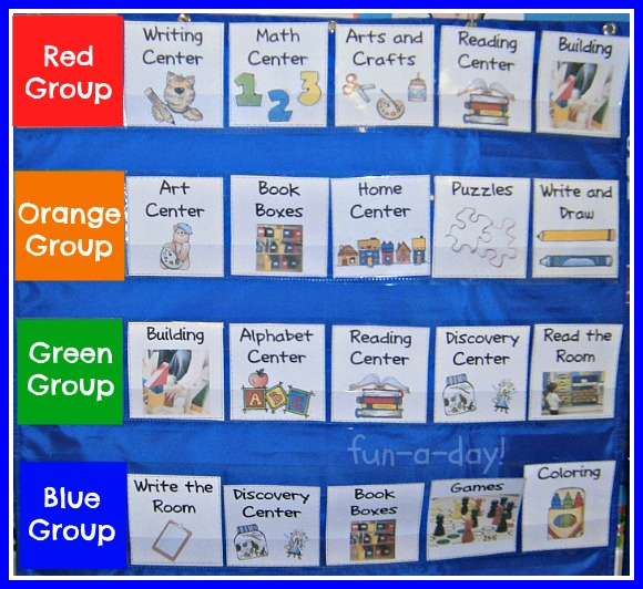 Preschool Center Time Clipart Structured Grouped Centers