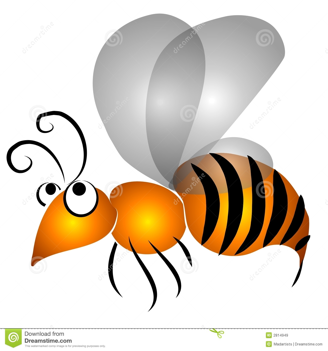 Royalty Free Stock Images  Cartoon Flying Wasp Clip Art