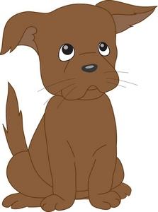 Sad Puppy Clipart Image A Sad