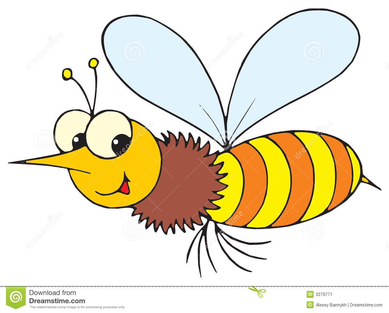 Stock Image  Wasp  Vector Clip Art