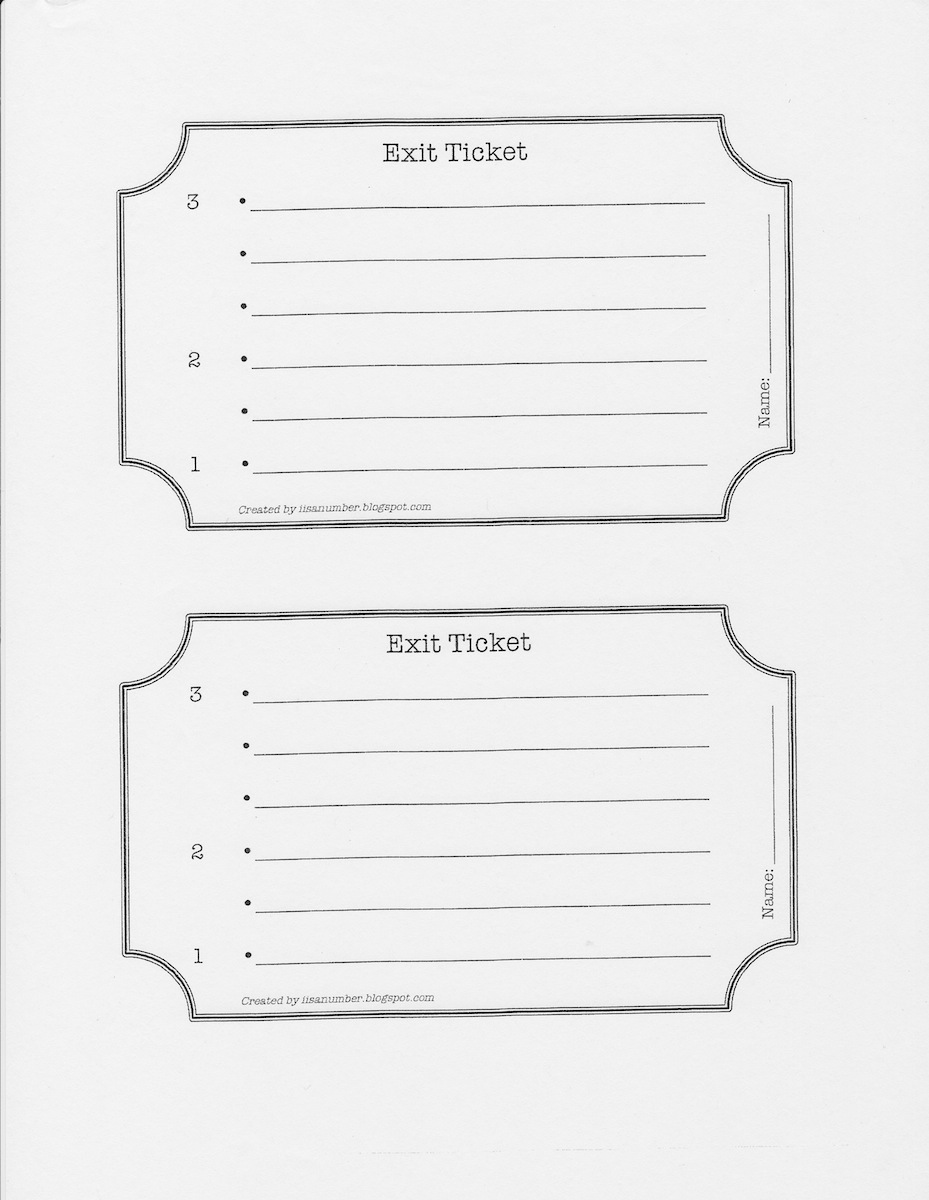 exit ticket clipart - photo #34