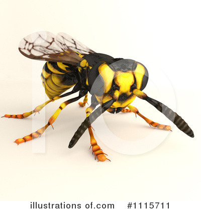 Wasp Clipart  1115711 By Leo Blanchette   Royalty Free  Rf  Stock