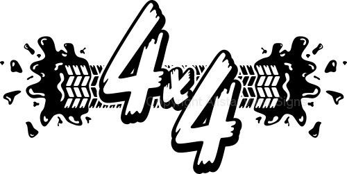 4x4 Mud Tire Track   4wd Four Wheel Drive Off Road Car Stickers