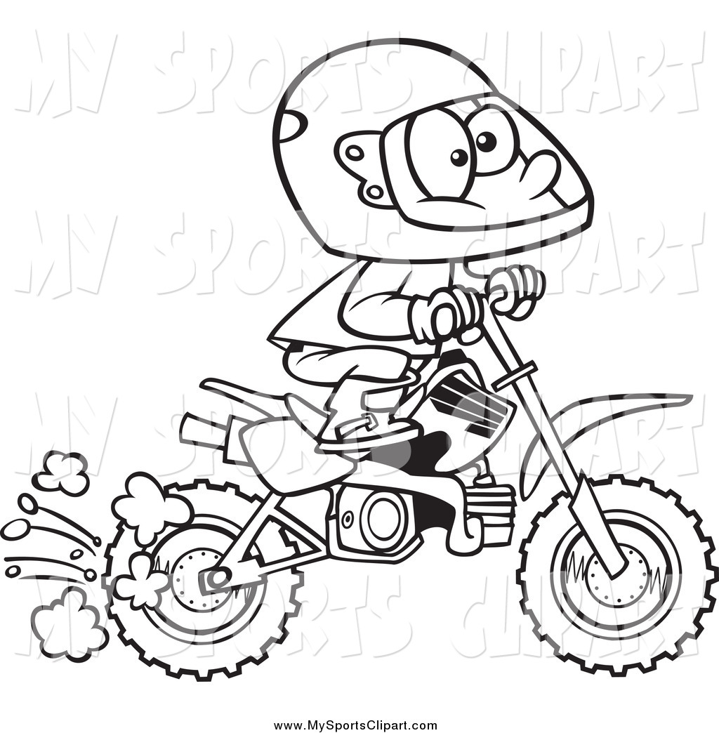 Black And White Boy Playing In Dirt Clip Art Image Black And White
