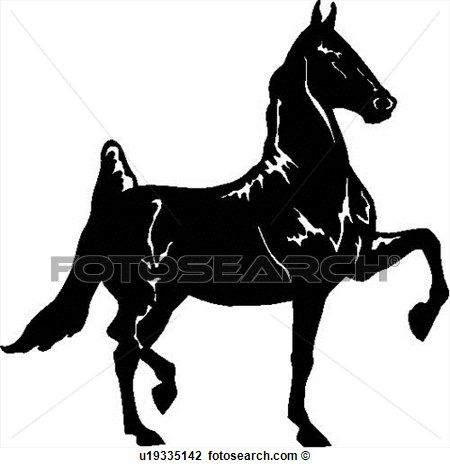 Breed Dressage Horse Trot Trotter View Large Clip Art Graphic