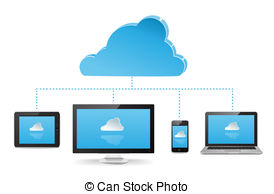 Cloud Server Illustrations And Clipart