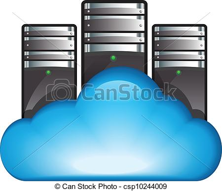 Cloud Server  Vector Illustration Of Cloud Computing Concept With