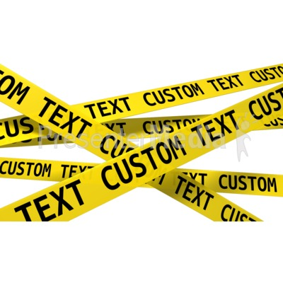 Custom Wall Of Crime Scene Tape   Signs And Symbols   Great Clipart