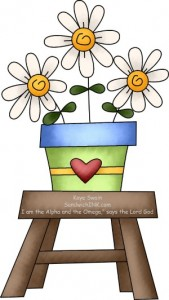 Cute Country Clipart With Encouraging And Comforting Bible Memory