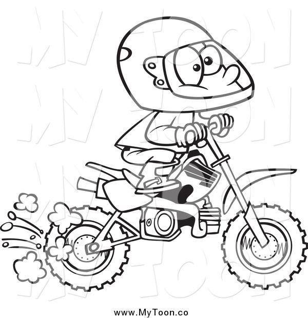dirt bike clip art black and white  vfy3ck