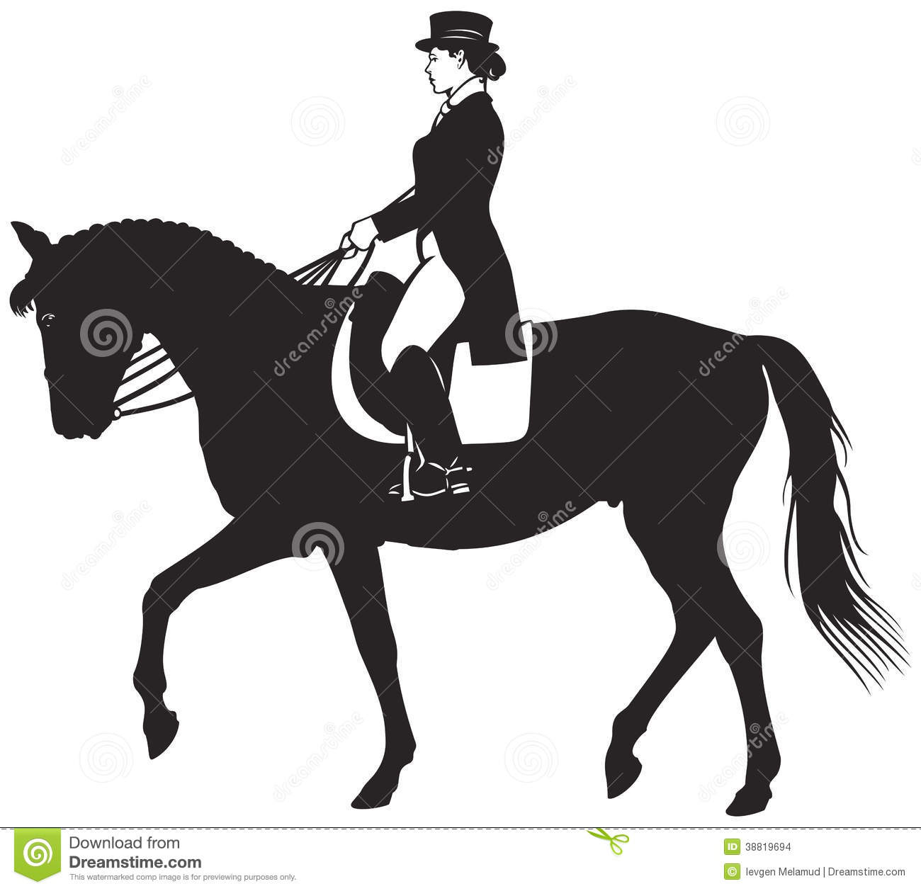 clip art dressage horse - photo #4