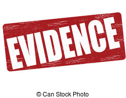 Evidence   Stamp With Word Evidence Inside Vector