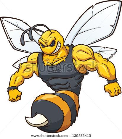 Clip Art Hornet Clipart brown yellow hornet clip art at clker com vector online art