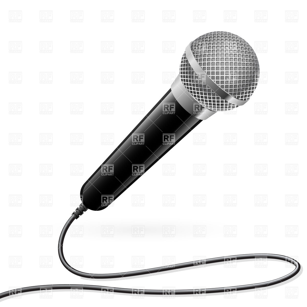 Microphone For Karaoke Download Royalty Free Vector Clipart  Eps