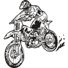 Motocross Clipart   Sports Clipart
