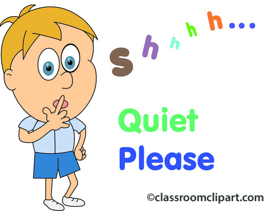 People   Quiet Please 05   Classroom Clipart