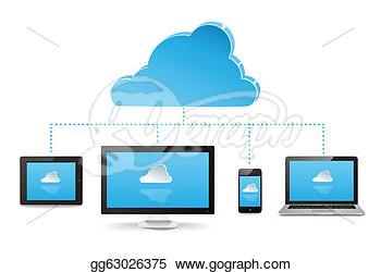 Stock Illustration   Cloud Server  Clipart Drawing Gg63026375