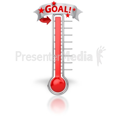 Thermometer Reached Our Goal   Signs And Symbols   Great Clipart For