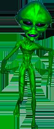 Animated alien head