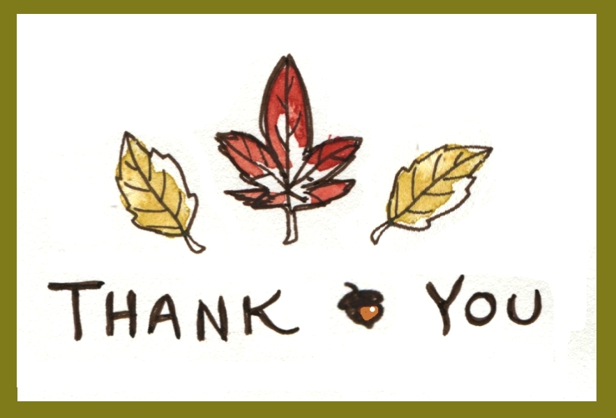 Art Around Midnight  Fall Thank You Notes
