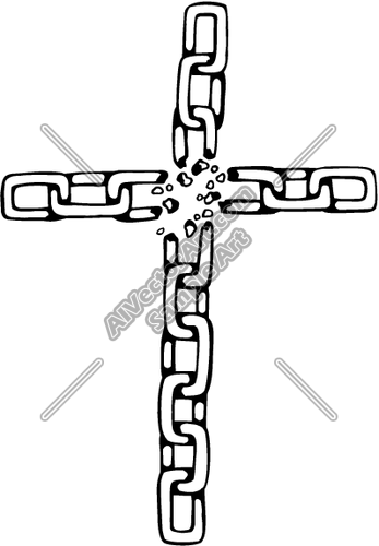 Broken Chain Cross Clipart And Vectorart  Tools   Chains Vectorart And