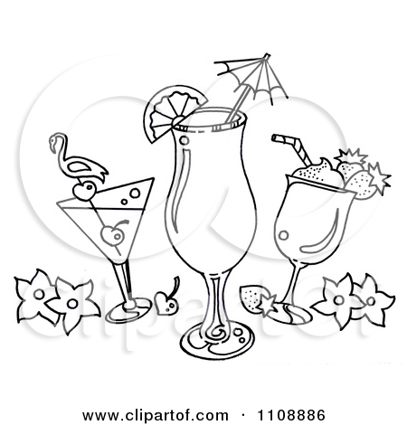 Tropical Drinks Coloring Pages
