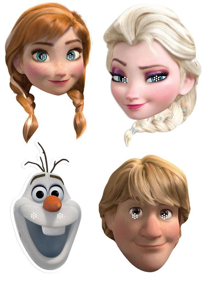 Disney S Frozen Variety Party Face Mask Pack Of 4  Anna Elsa Olaf A