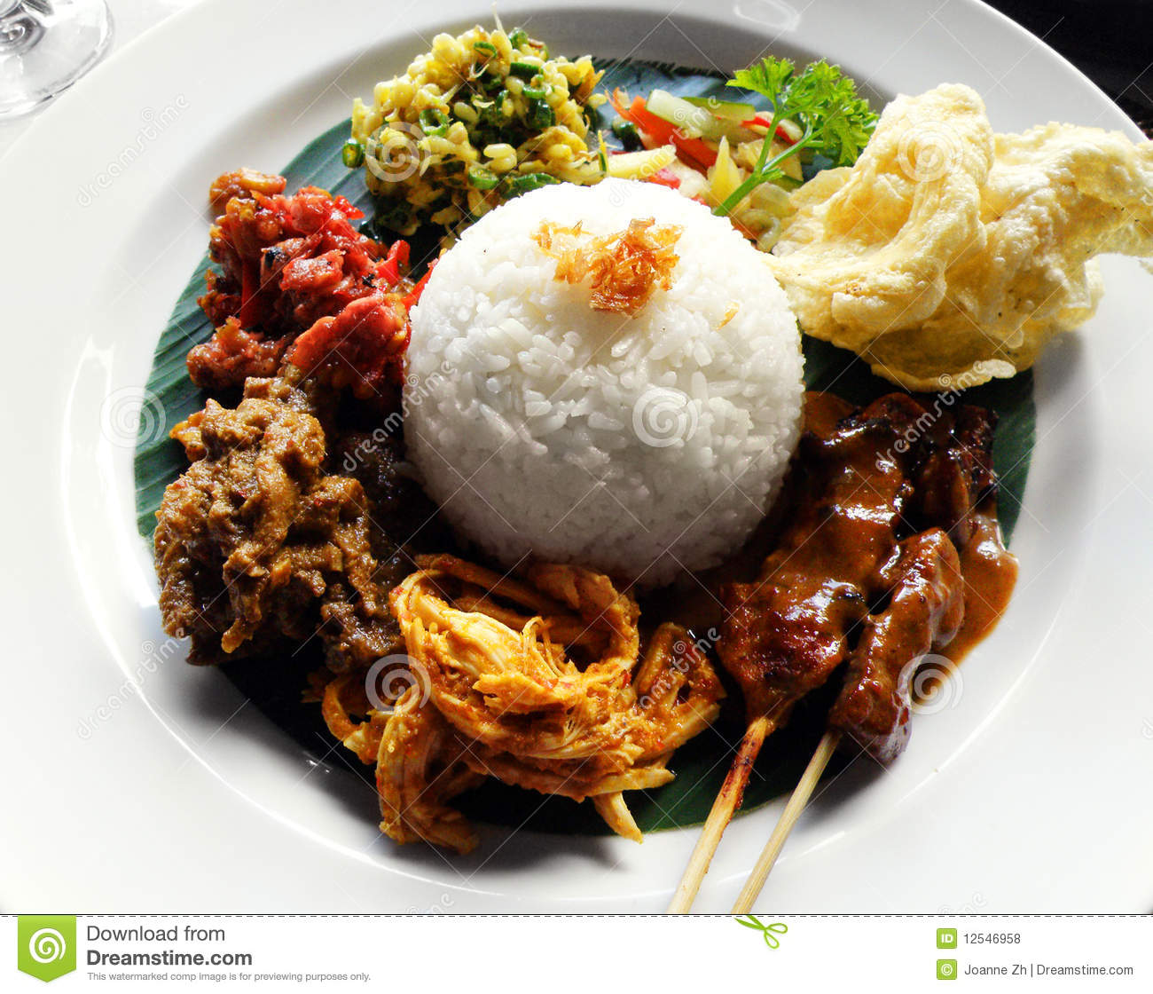 Ethnic Asian Food Nasi Campur Royalty Free Stock Photos   Image