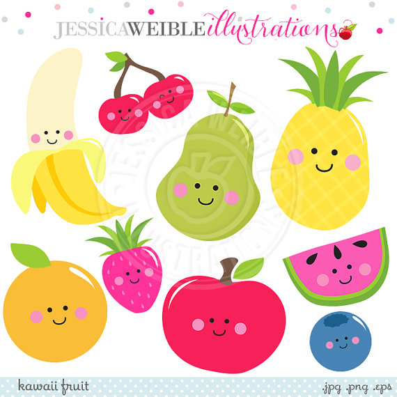 ... Clipart Cute Fruit Clip Art Smiling Fruit #oFq2Hy - Clipart Kid