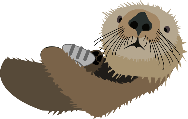 Clip Art Otter Clip Art cute images of an otter clipart kid with shell clip art at clker com vector online