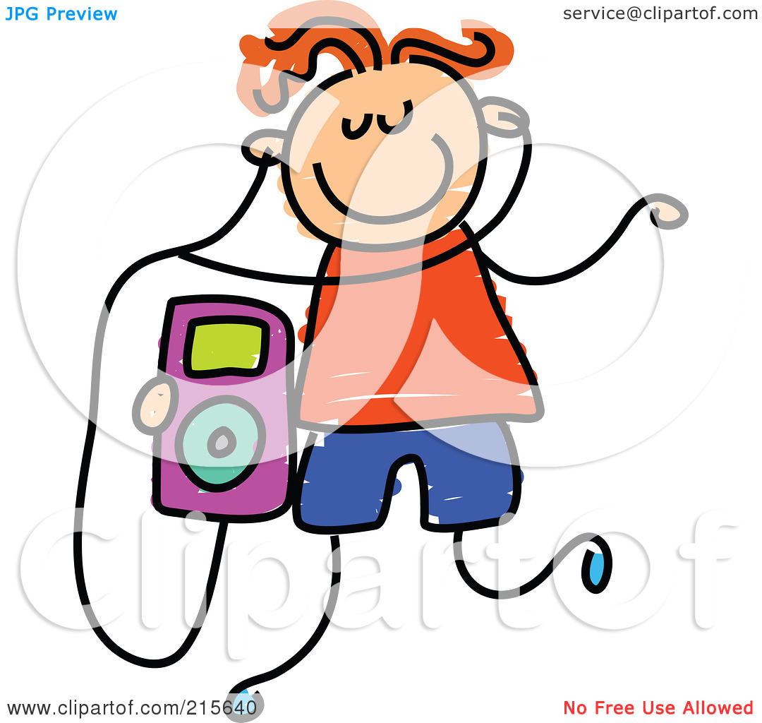 Clip Art Listening To Ipod Clipart - Clipart Kid