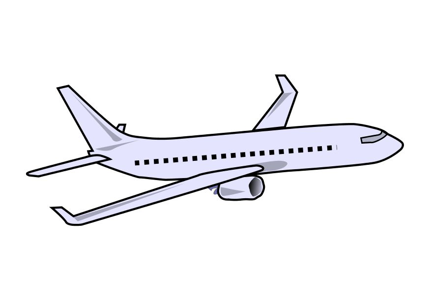 Airplane Outline Color Clipart - Clipart Kid