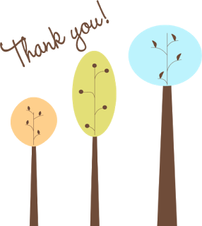 Pretty Thank You Tree Clip Art Png