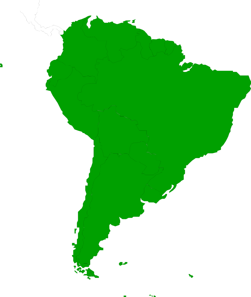 South America   Free Stock Photo   Illustrated Map Of South America