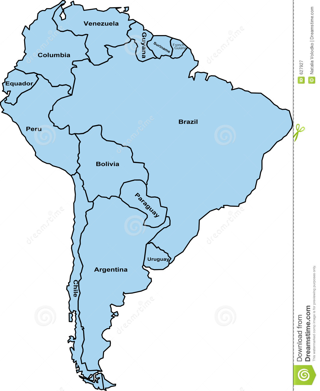 south america map clipart - photo #1