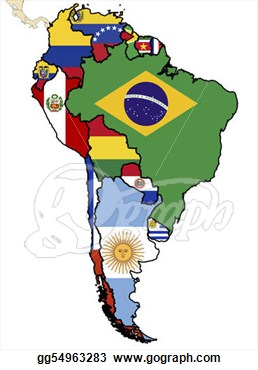 Stock Illustration Some Map Of South American Countries Clip Art