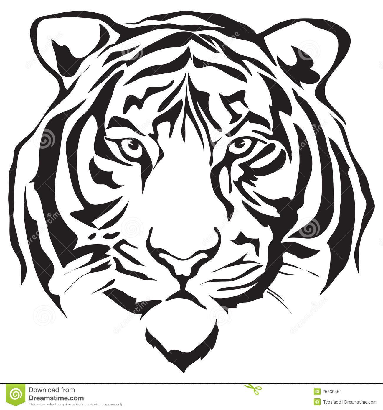Tiger Face Clip Art Face Tiger 25639459 Jpg