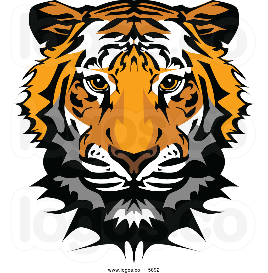 Tiger Face Clipart - Clipart Kid