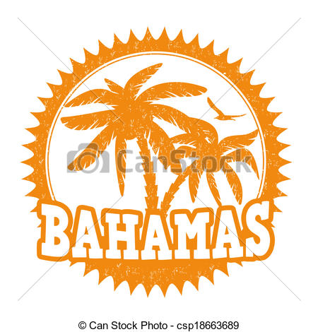 Vector Of Bahamas Stamp   Bahamas Travel Rubber Stamp On White Vector
