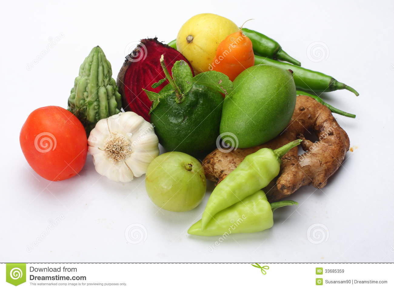Vegetables For Mixed Pickle  Royalty Free Stock Images   Image