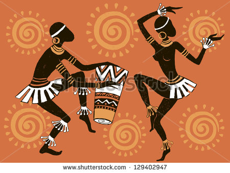 African Woman  Dancing Woman  Dancing Aborigines   Stock Vector
