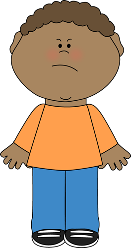 Angry Boy Clip Art Image   Little Boy Wearing A Long Sleeve Shirt And