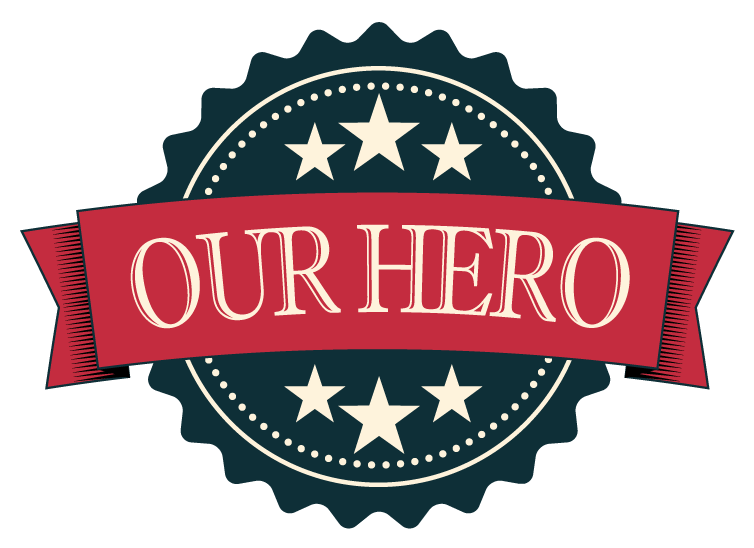 Badge Banner Seal In Reto Color Our Hero Free Download
