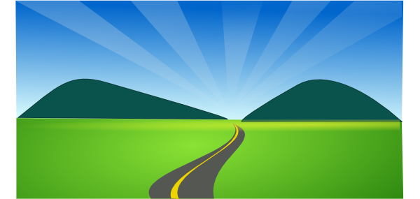 Country Road Clipart