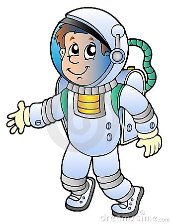 Cute Floating Astronaut Cute Astronaut Color Cartoon